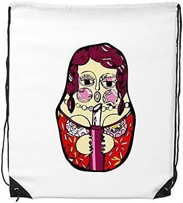 Drawstring Backpack Russian Matryoshka Nesting Dolls Bags