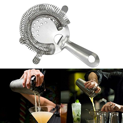Cocktail Shaker Set, Elevin(TM) 10Pcs Cocktail Shaker Set With Acrylic Base Maker Mixer Martini Spirits Muddler (F: Ice Strainer)