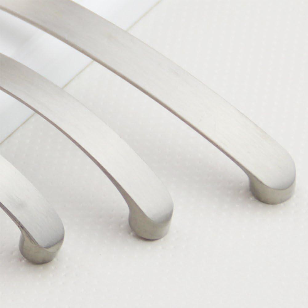 maniglia moderna per cassetti e ante da cucina in nichel spazzolato Taglia libera 128 o 160 mm da 96 128cm EMVANV