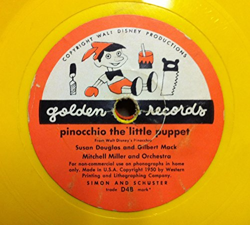 (GILBERT MACK MITCHELL MILLER I'VE GOT NO STRINGS & PINOCCHIO THE LITTLE PUPPET 45 rpm single)