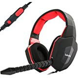 PS4 Gaming Headset Compatible with Playstation 4 Xbox One PC Tablet Smartphones Wired Headphone with Detachable Microphone Mic Mute Funtion Crystal Clear Video Game Audio