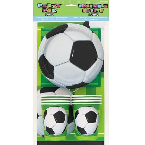 Soccer Party Tableware Kit for 8