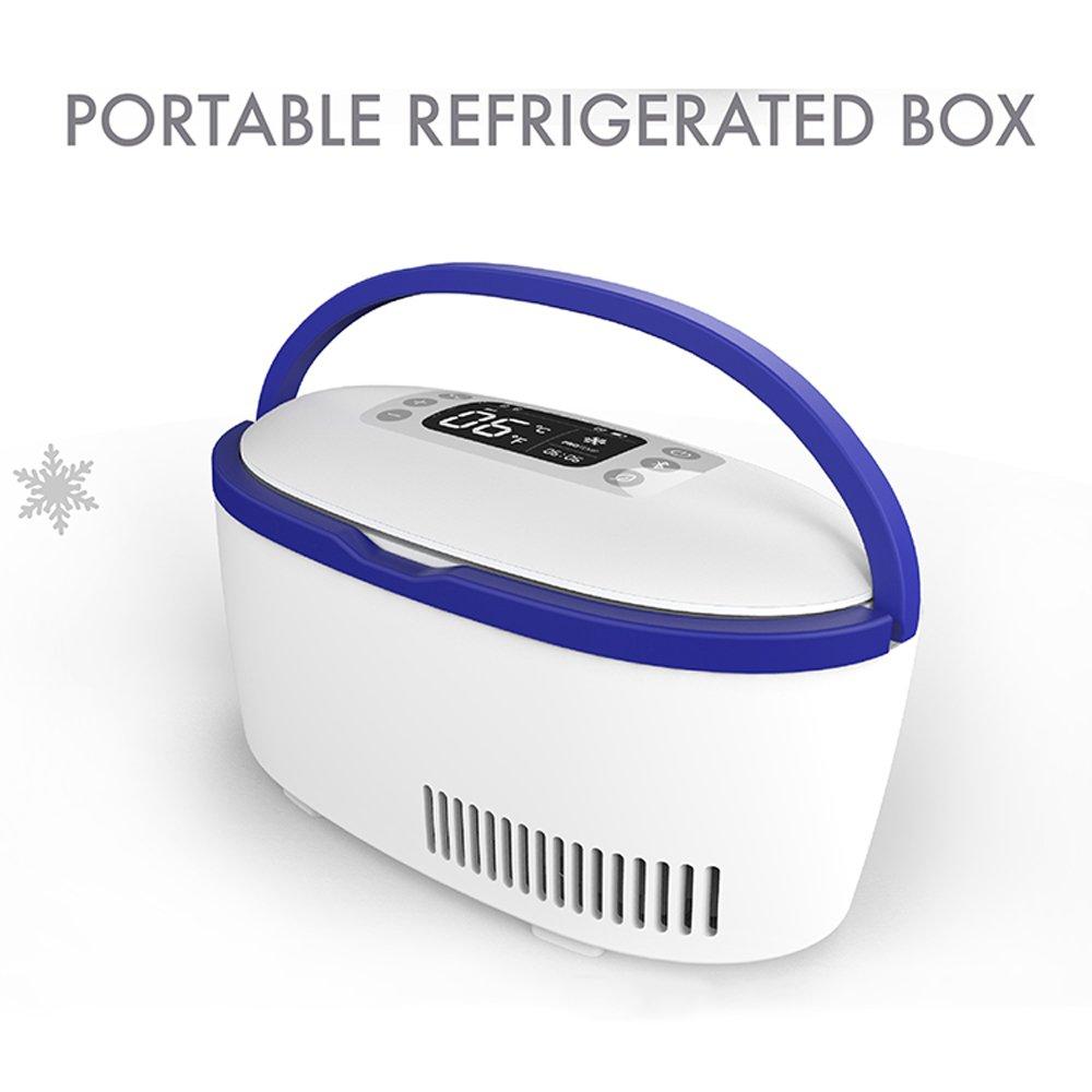 DAWNG-28 Termostato de insulina portátil Estuche de refrigerador para medicina pequeña Uso en nevera refrigerada con medicamento con sistema de control de ...