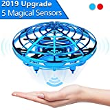 High-Tech Hand Controlled Drone with no remote: UFO drones toys for kids use high-tech infrared motion sensors to detect obstacles and steer by hand. The best flying drone toys gifts for 3 4 5 6 7 8 9 10 year old boys or girls or teens,growups. The b...