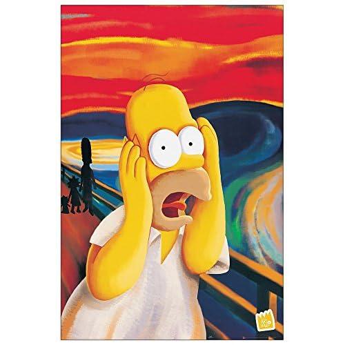 ArtPlaza Homer, L'Urlo-(The Simpsons) Panneau Décoratifs, Bois, Multicolore, 60 x 1,8 x 90 cm