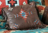 Southwest Rustic Embroidered Pillow - Rustic Bedding Linens