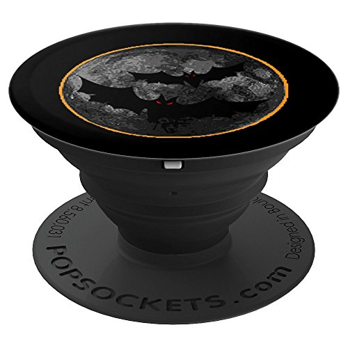 Scary Spooky Bats On A Halloween Moon Eclipse PopSocket Grip - PopSockets Grip and Stand for Phones and Tablets -