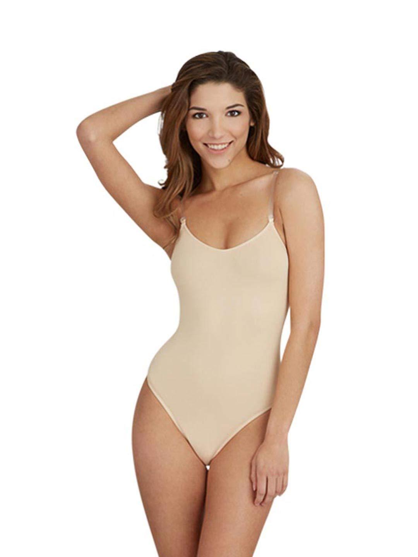 Capezio Women's Camisole Leotard with Clear Transition Straps, Nude, Small by Capezio