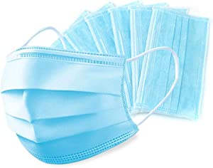 50 Pieces 3 PLY Blue Disposable Mask
