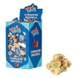 100 Small Dreidels - Natural Wood - Classic Chanukah Spinning Draidel Game, Gift and Prize - Bulk Value Pack - By Izzy 'n' Diz