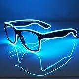 Light Up El Wire Glasses (Blue)
