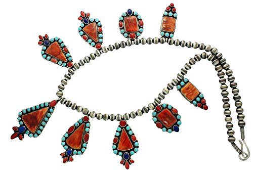 Donovan Cadman, Necklace, Coral, Spiny Oyster Shell, Lapis, Navajo Handmade