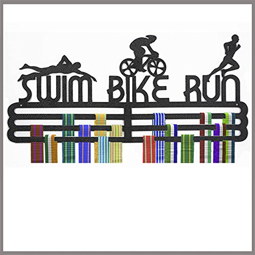 Medal Hanger Display Swim Bike Run Polypropylene Triple - Run Swim Cycle