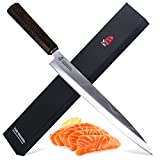 TUO Cutlery Sashimi Sushi Fish Knife - Japanese Damascus Stainless Steel Pro Yanagiba 10.5'' Slicing Knife