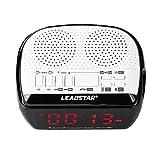 Zerone Alarm Clock Bluetooth Speaker, Wireless Bluetooth Speaker Music Audio MP3 Alarm Clock FM Radio LED Screen