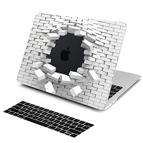 Batianda Latest MacBook Pro 15 inch Case Unique 3D Innovative Brick Blasting Design Keyboard Cover Sleeve for Apple MacBook Pro 15 with Touch Bar (Model: A1990 A1707) 2018 2017 & ()