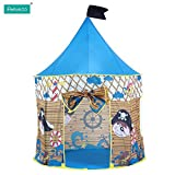 Pericross Portable Kids Teepee Pop Up Tents Pirate Play Hut Play House Fairy Tale Castle Indoor Outdoor Children Play House