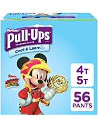 Cool & Learn Training Pants for Boys, 4T-5T (38-50 lbs.), 56 Count, Toddler Potty Training Underwear, Packaging May Vary