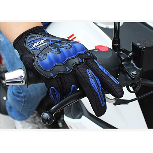 AINIYF Full Finger Motorcycle Gloves | Motocross Anti-skid Slip Breathable Cycling Racing Locomotive Touchscreen Outdoor Gloves Male Summer Knight Equipment (Color : Blue, Size : M) by AINIYF (Image #2)