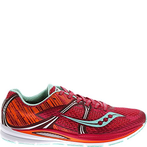 Saucony Women's Fastwitch Road Racing Shoe,Berry/Blue/Ora...