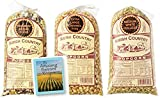 large amish popcorn - Amish Country Popcorn 3 Bags 1 Pound Each, Rainbow Unique Blend, Extra Large Caramel Type, Medium White - with Recipe Guide