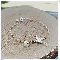 Bird Bracelet - Bird Initials Bracelet