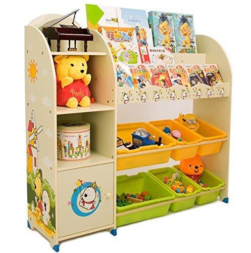SZFMMY ® Niños Niños Juguete Unidad de Almacenamiento estantería de Cajas de estantería de 3Niveles Organizador de Play Vitrina Sala de Juegos Dormitorio Muebles del cajón niños (Beige)
