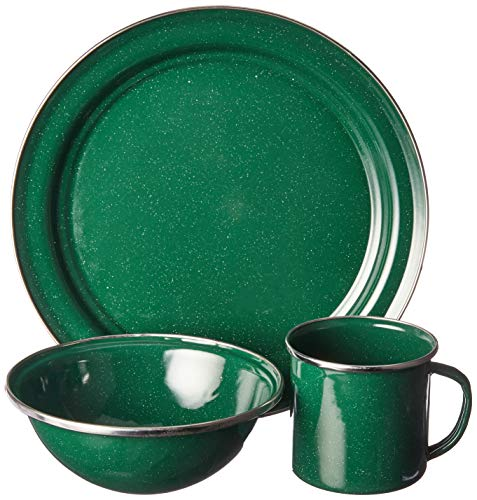 GSI Outdoors 4 Person 25212 Pioneer Table Set Green Enamel