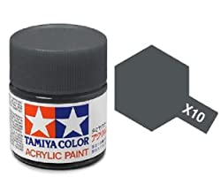 Tamiya Models X-10 Mini Acrylic Paint, Gun Metal by MMD Holdings, LLC