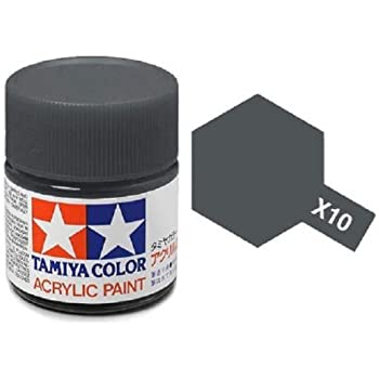 Tamiya Models X-10 Mini Acrylic Paint, Gun Metal