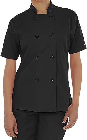 Women's Lightweight Short Sleeve Chef Coat (XS-3X, 3 Colors)