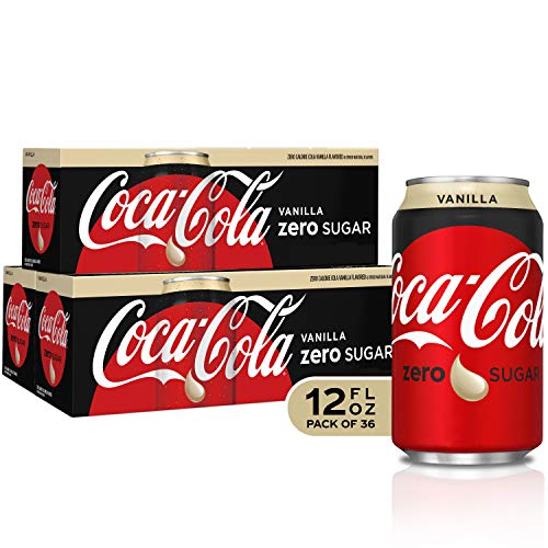 - Coke Zero Vanilla Fridge Pack Bundle, 12 fl oz, 36 Pack