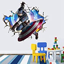Captain America Wall Decal , Avengers Wall Decal , Best for Avengers Theme Room Decor.