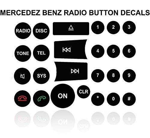 Mercedes Benz Radio Button Repair Kit For Most C-Class E-Class GLK-Class W-Class And Like Benz Vehicles