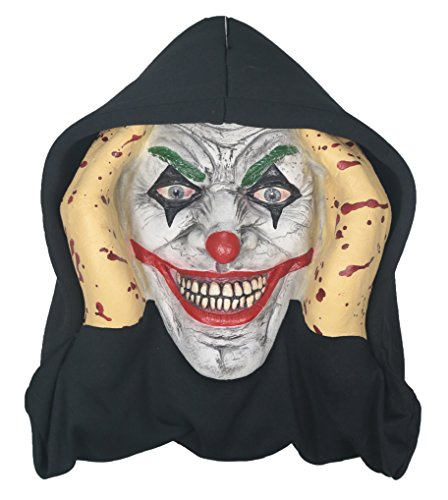 Scary Peeper Creepy Clown Halloween Prop - Spooky Holiday Decoration – True-to-Life Evil Jester that Peers in Your Window to Frighten Trick-or-Treaters