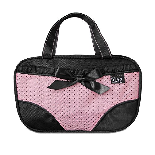 Travel Underwear Organizer Lingerie Bag – Underwear Pouch For Women That Separates Clean & Not-So-Clean Panties - Protect Store & Organize Your Undies & Bikini Bottoms While Traveling - Katie Pink
