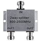 Lysignal Power Splitter 800-2500MHz Signal Divider with N Female Connector for Mobile Cell Phone Signal Booster Amplifier (2 Way)