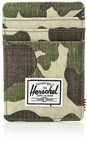 Herschel Supply Co. Unisex-Adults Roy Rfid Blocking Wallet, Frog Camo/Multi, One Size by Herschel Supply Co.