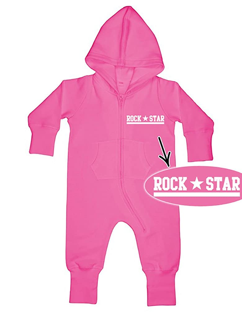 ROCK STAR Baby All-in-one Sweatsuit pink 44996