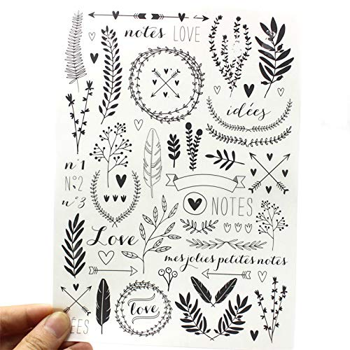 Scrapbook Vellum Happy Diary Planner Notes Rub On for Scrapbooking Happy Planner/Card Making/Journaling Project ()