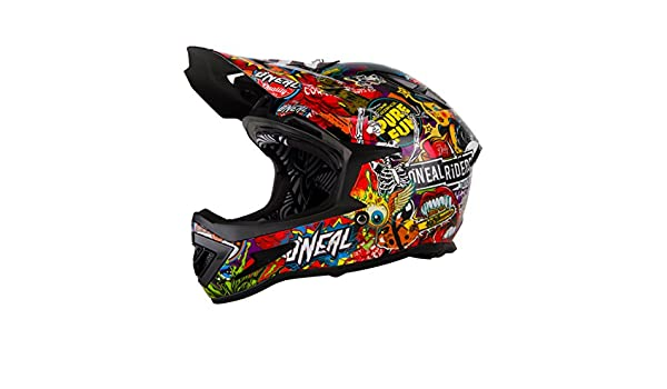 Amazon.com : ONeal Black-Multi 2018 Warp Fidlock Crank MTB Full Face Helmet : Sports & Outdoors