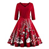 WINNER Vestidos Vintage Autumn dress Rockabilly 4XL plus size women clothing party dress Printed 60s Hepburn Casual Dress Red XL
