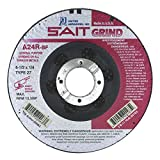 United Abrasives-SAIT 20063 Type 27 4-1/2-Inch x 1/4-Inch x 7/8-Inch Grade A24R Long Life Depressed Center Grinding Wheels, 25-Pack