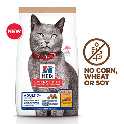 Hill's Science Diet Senior 7+ No Corn, Wheat or Soy Dry Cat Food, Chicken Recipe