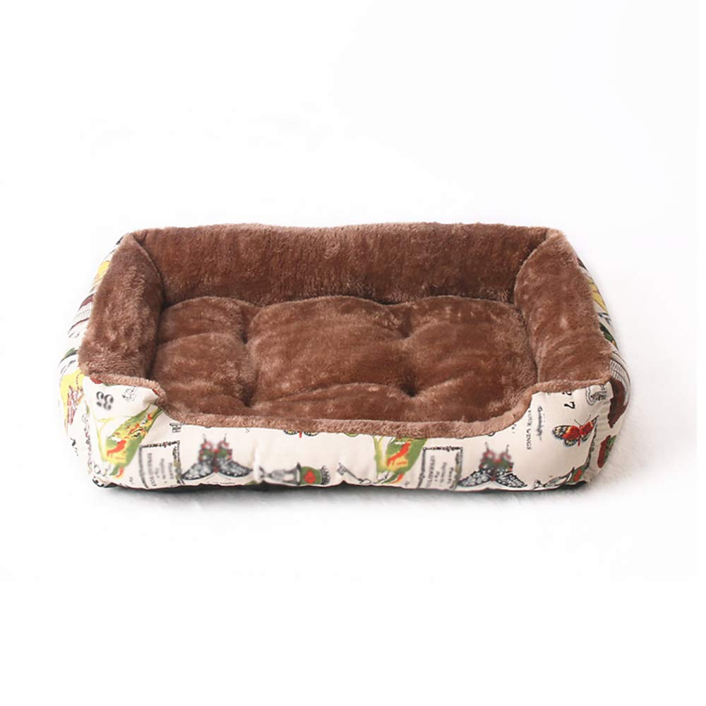 60CM Dog Mattress, Warm Thickened Pet Bed, Pet Bed for Small, Medium and Large Dogs, Brown (Size   60CM)