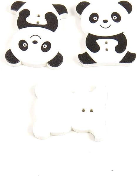 Botones de costura coser sobre aojd1 sentado oso panda para ropa ...