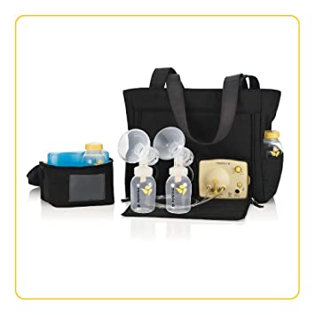double Medela pump breast style in