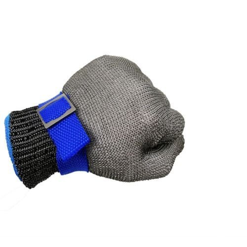 Size L Safety Cut Proof Stab Resistant Glove,Stainless Steel Metal Mesh Butcher Glove, High Performance Level 5 Protection Glove by Debris time (Image #2)