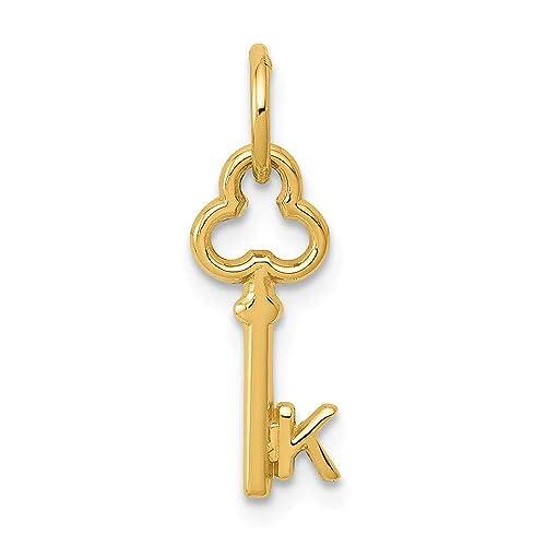 14k White Gold I Key Charm 14 kt White Gold