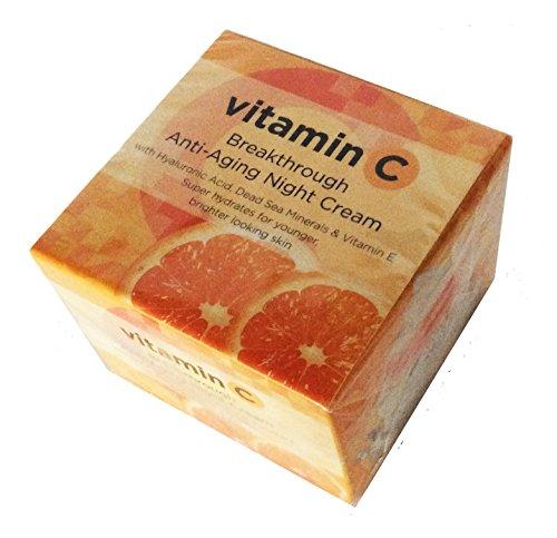 VITAMIN C ANTI-AGING NIGHT CREAM with Hyaluronic acid, Dead Sea Minerals & Vitamin E 1.69 FL OZ